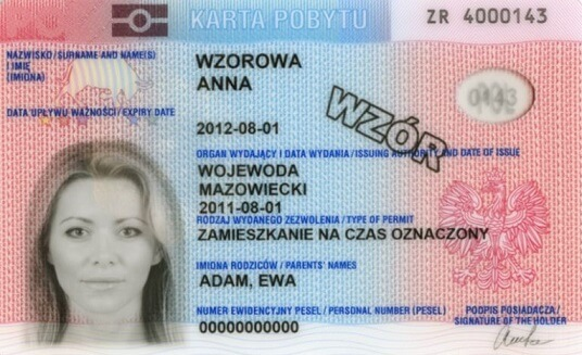 Polonya oturum kartı