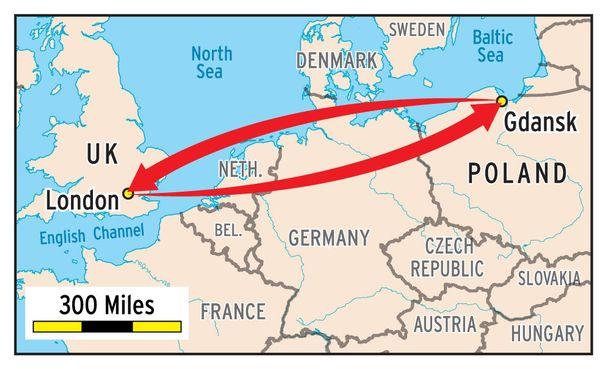 İngiltere'deki okuluna Polonya'dan gidip